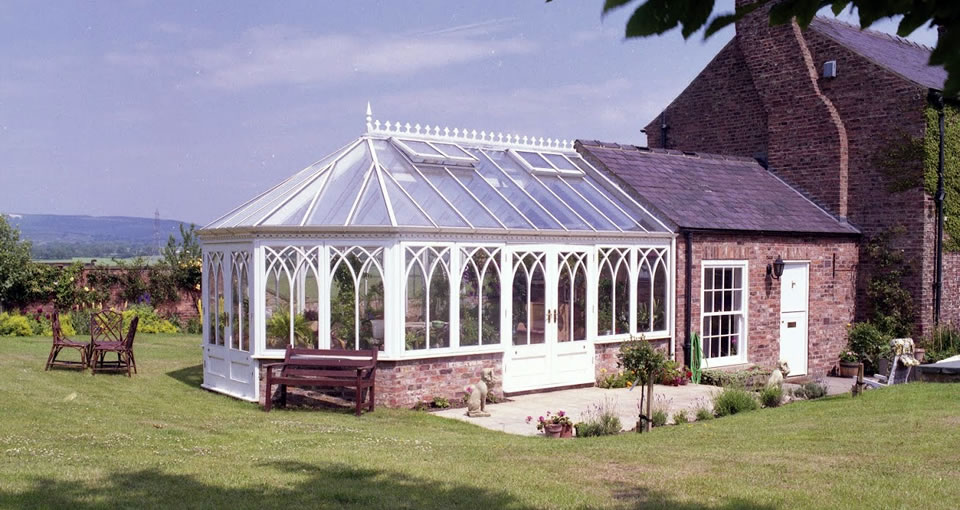 Solid timber conservatory