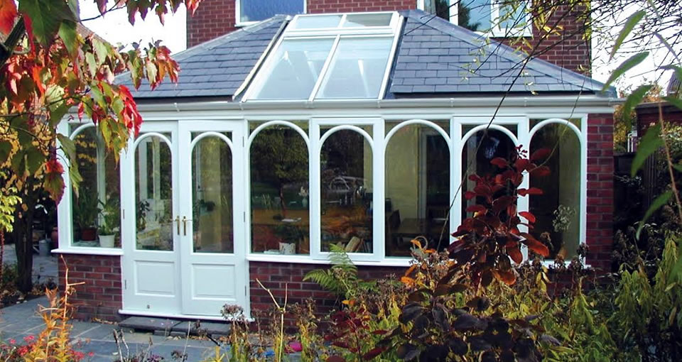 Garden room with slate roof